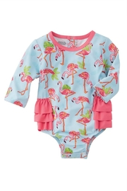 Mud Pie Flamingo Rash Guard - Front full body