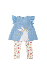 Mud Pie Floral-Bunny Outfit Set - Product Mini Image