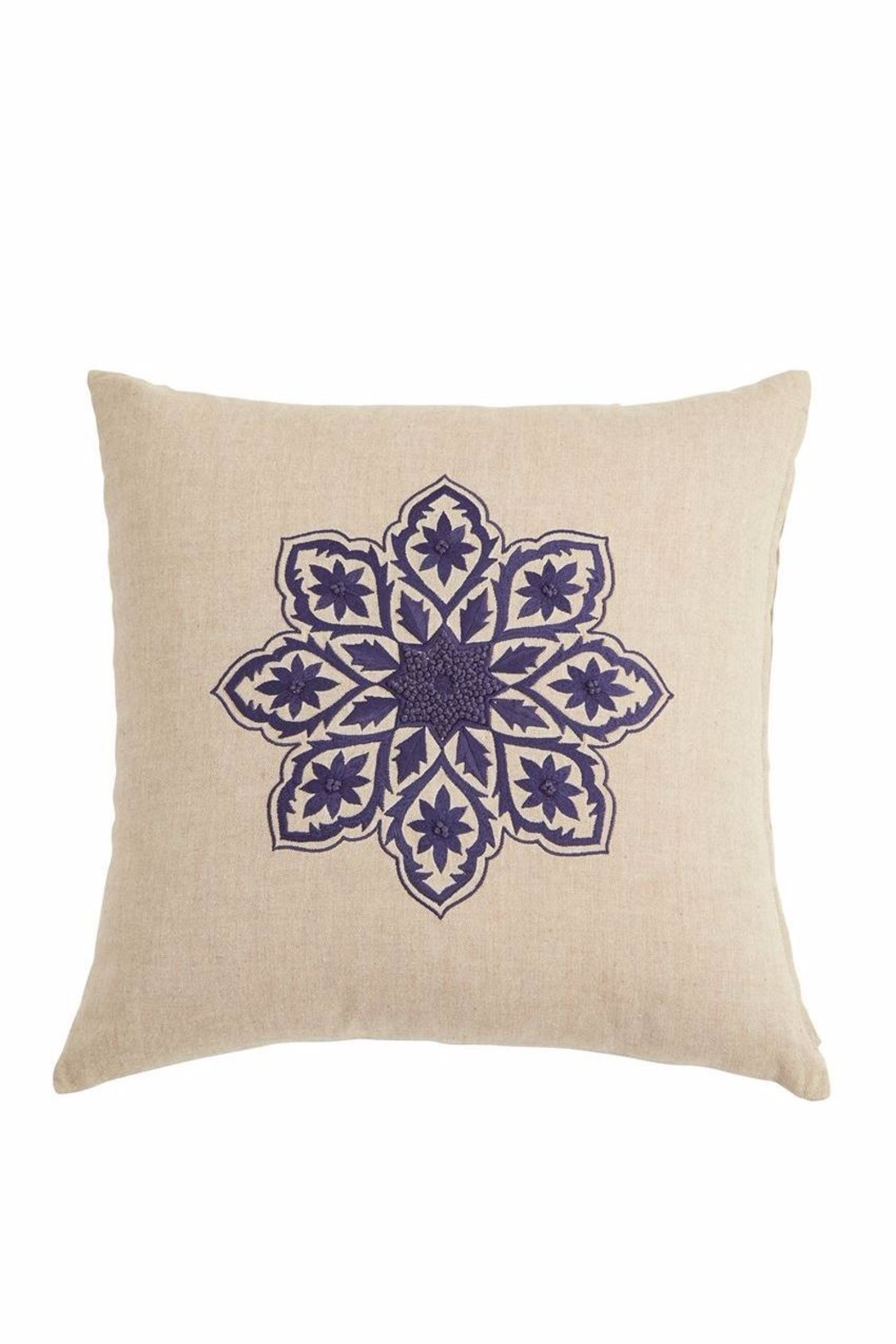 Mud Pie Florese Square Pillow - Front Cropped Image
