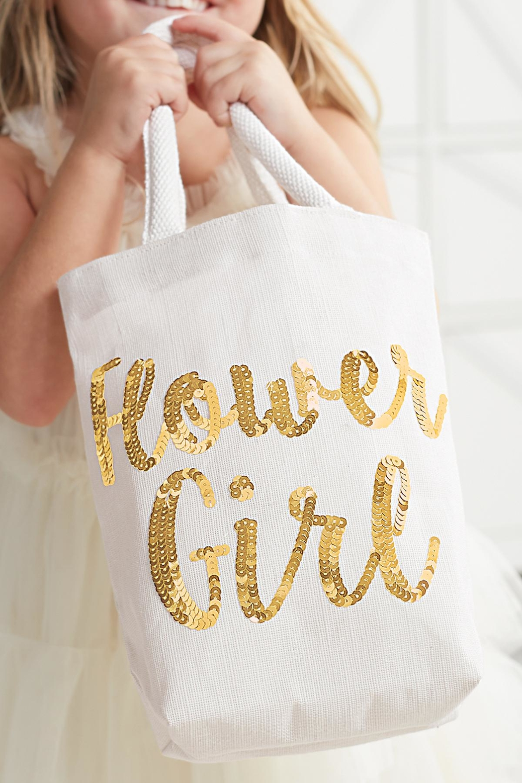 Mud Pie Flower Girl Tote - Front Full Image