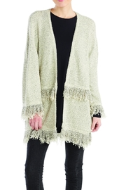 Mud Pie Fringe Cardigan Sweater - Product Mini Image