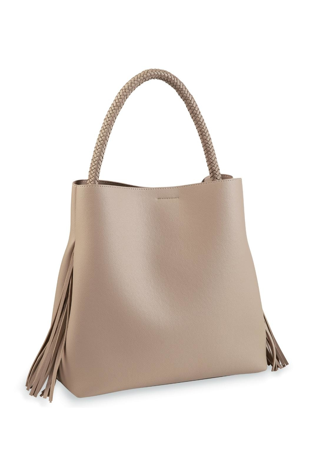 Mud Pie Fringe Tote Bag - Front Cropped Image