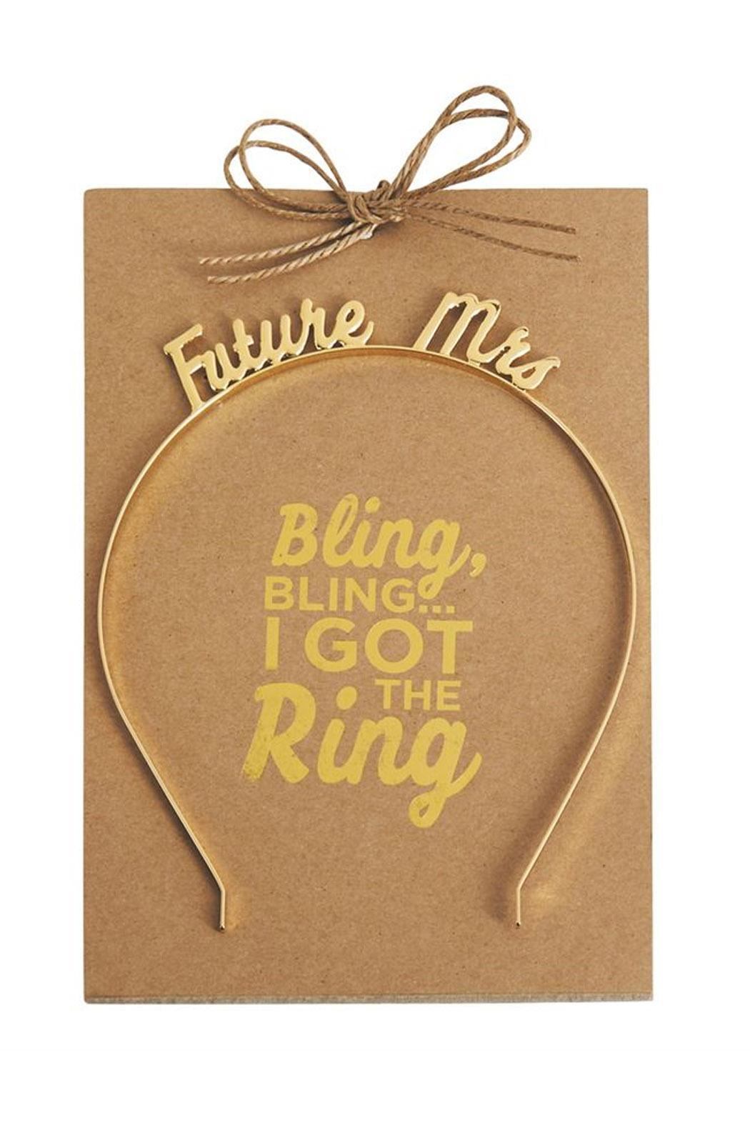 Mud Pie Future Mrs. Headband - Front Cropped Image
