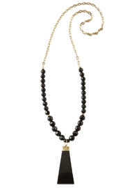 Mud Pie Genuine Horn Necklace - Front cropped