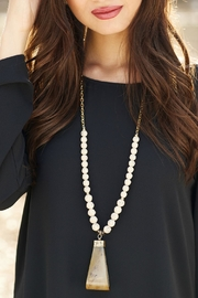 Mud Pie Genuine Horn Necklace - Front full body