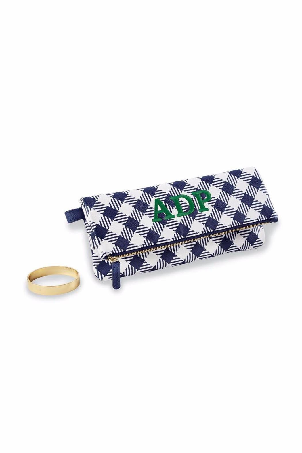 Mud Pie Gingham Cuff Clutch - Front Cropped Image