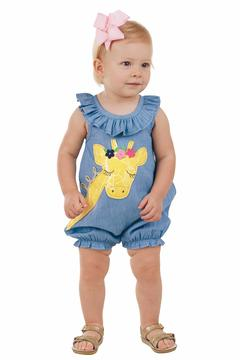 Shoptiques Product: Giraffe Chambray Romper