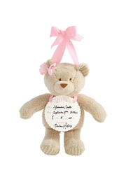 Mud Pie Girl Announcement Bear - Product Mini Image
