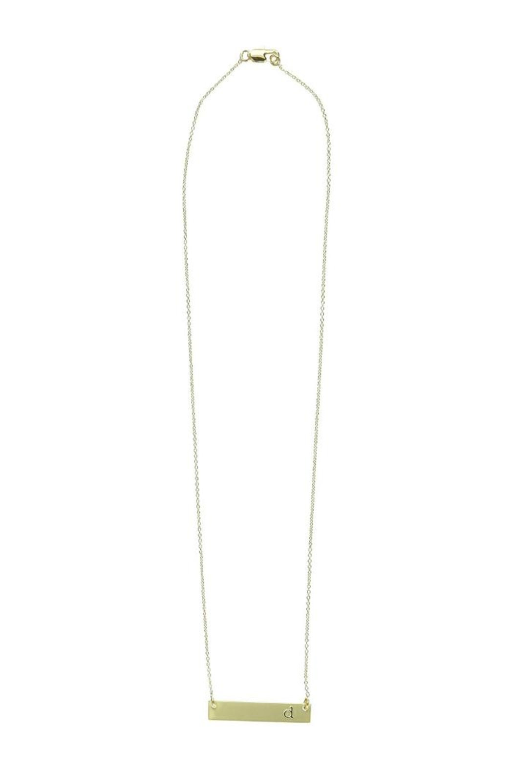 Mud Pie Gold Bar Monogram Necklace D Front Cropped Image