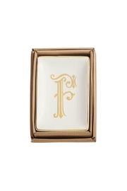Mud Pie Gold F-Initial Dish - Product Mini Image
