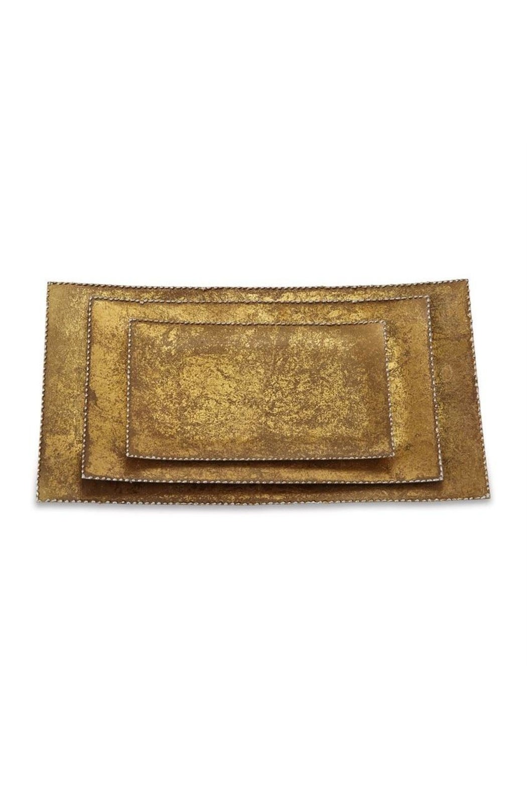 Mud Pie Gold Foil Trays - Main Image