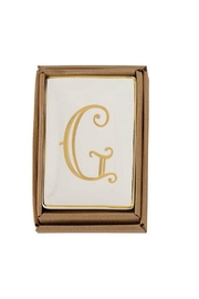 Mud Pie Gold G-Initial Dish - Product Mini Image
