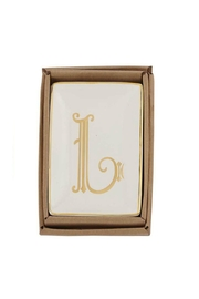 Mud Pie Gold L-Initial Dish - Product Mini Image