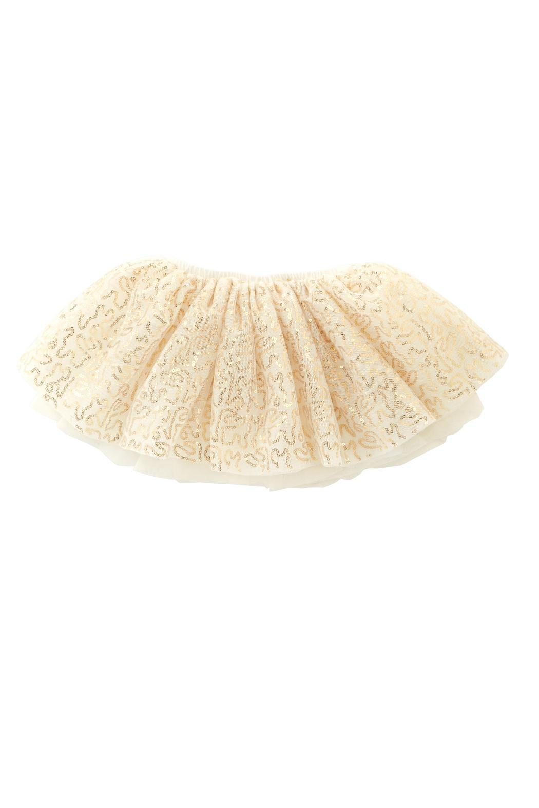 Mud Pie Gold Mesh Skirt - Front Cropped Image