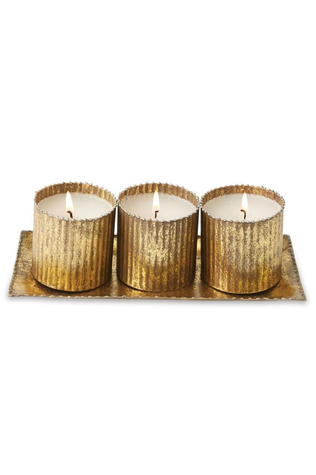 Mud Pie Gold Votive Set - Front Cropped Image