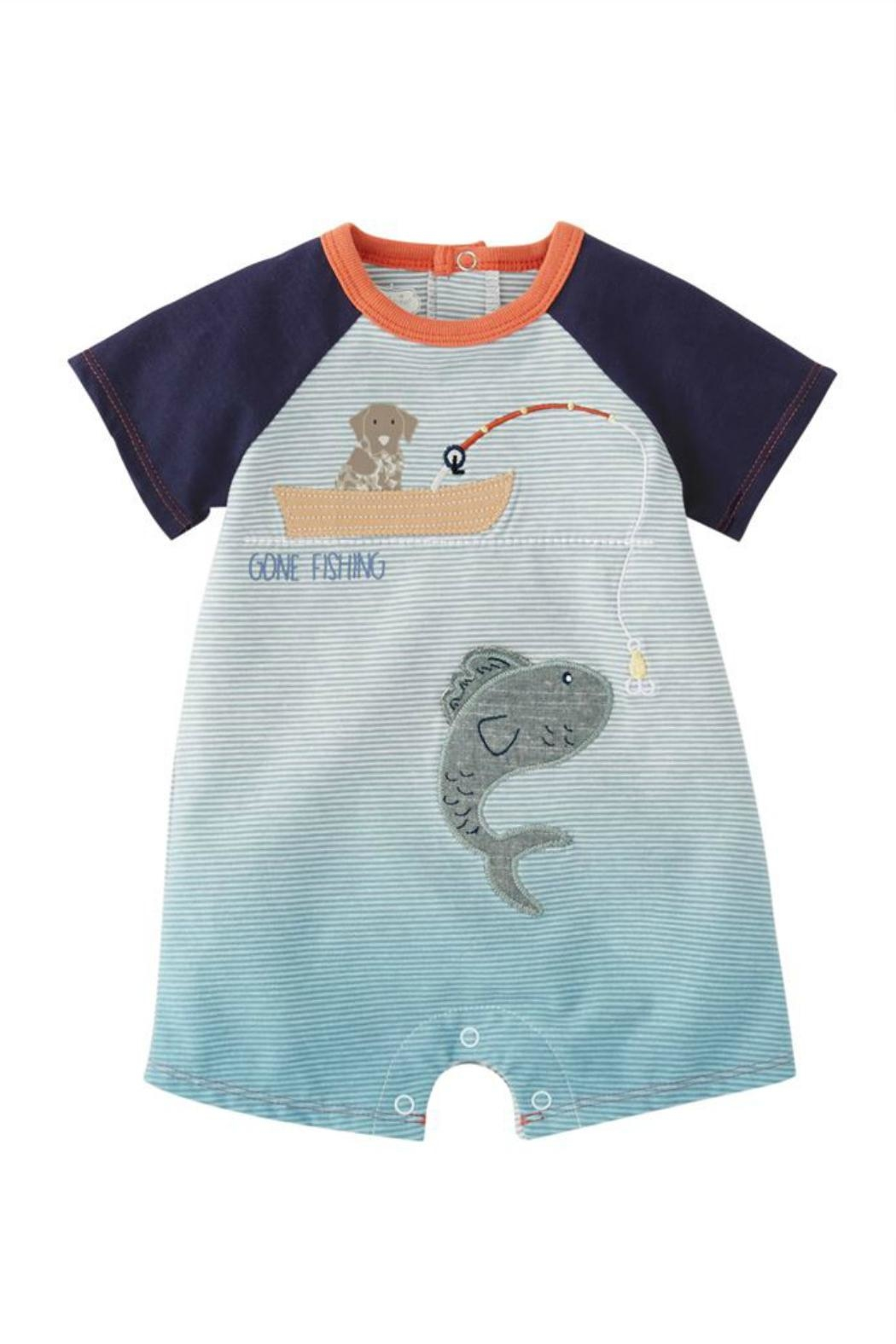 Mud Pie Gone Fishing Shortall - Front Cropped Image