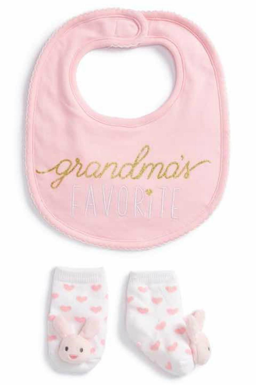 Mud Pie Grandma Sock-Bib Set - Front Cropped Image