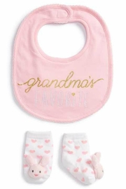 Mud Pie Grandma Sock-Bib Set - Front cropped