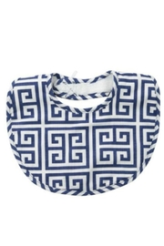 Mud Pie Greek Key Bib - Front cropped