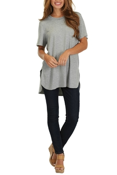 Shoptiques Product: Grey Jersey Tunic Top