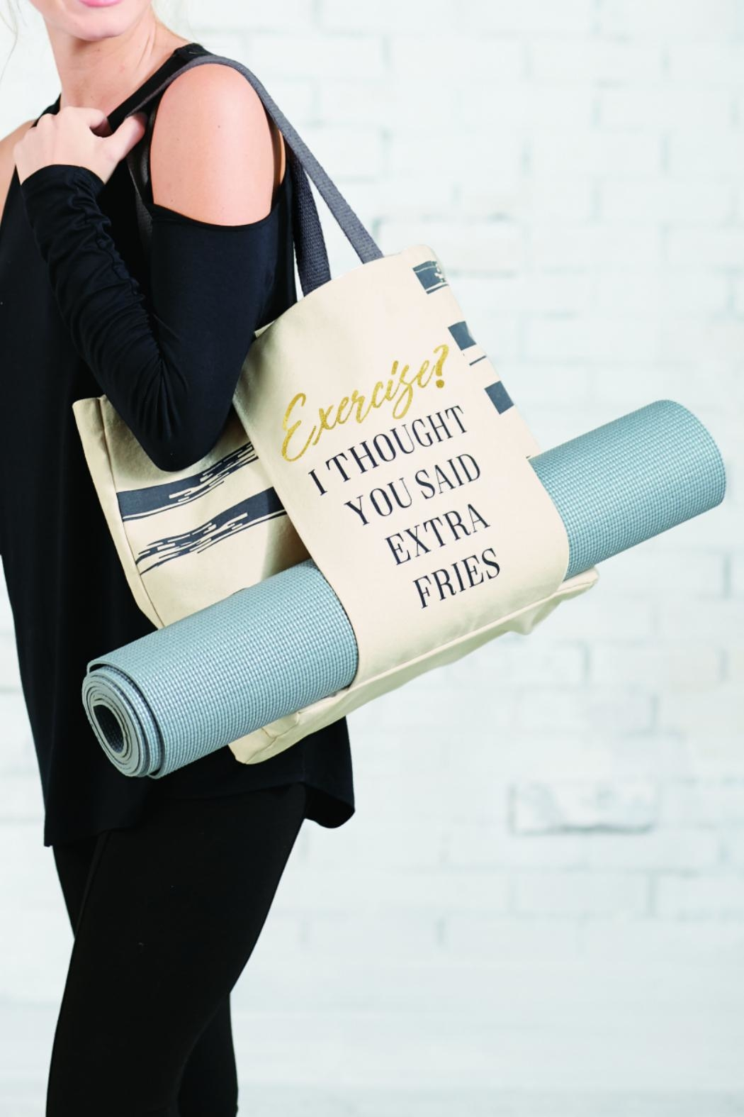 Mud Pie Gym Tote - Front Full Image
