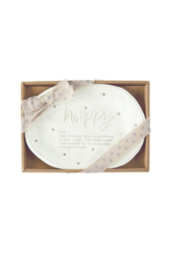 Mud Pie Happy Definition Plate - Product List Image