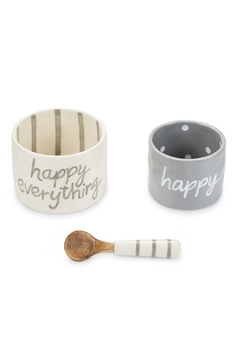 Mud Pie Happy Everything Nested-Dip-Cup-Set - Alternate List Image