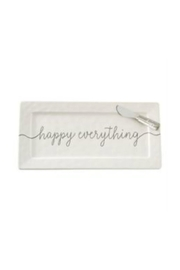 Mud Pie Happy Everything Platter - Front cropped