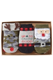 Mud Pie Holiday Socks - Front full body