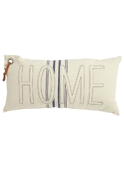 Mud Pie Beige Home Pillow - Front cropped