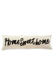 Mud Pie Home-Sweet-Home Knot Pillow - Front full body