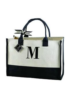 Mud Pie Initial Canvas Tote - Alternate List Image