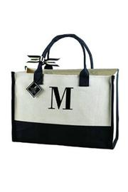Mud Pie Initial Canvas Tote - Product Mini Image