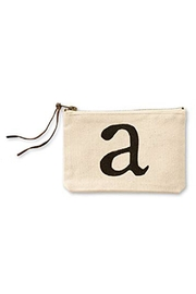 Mud Pie Initial Cosmetic Pouch - Product Mini Image
