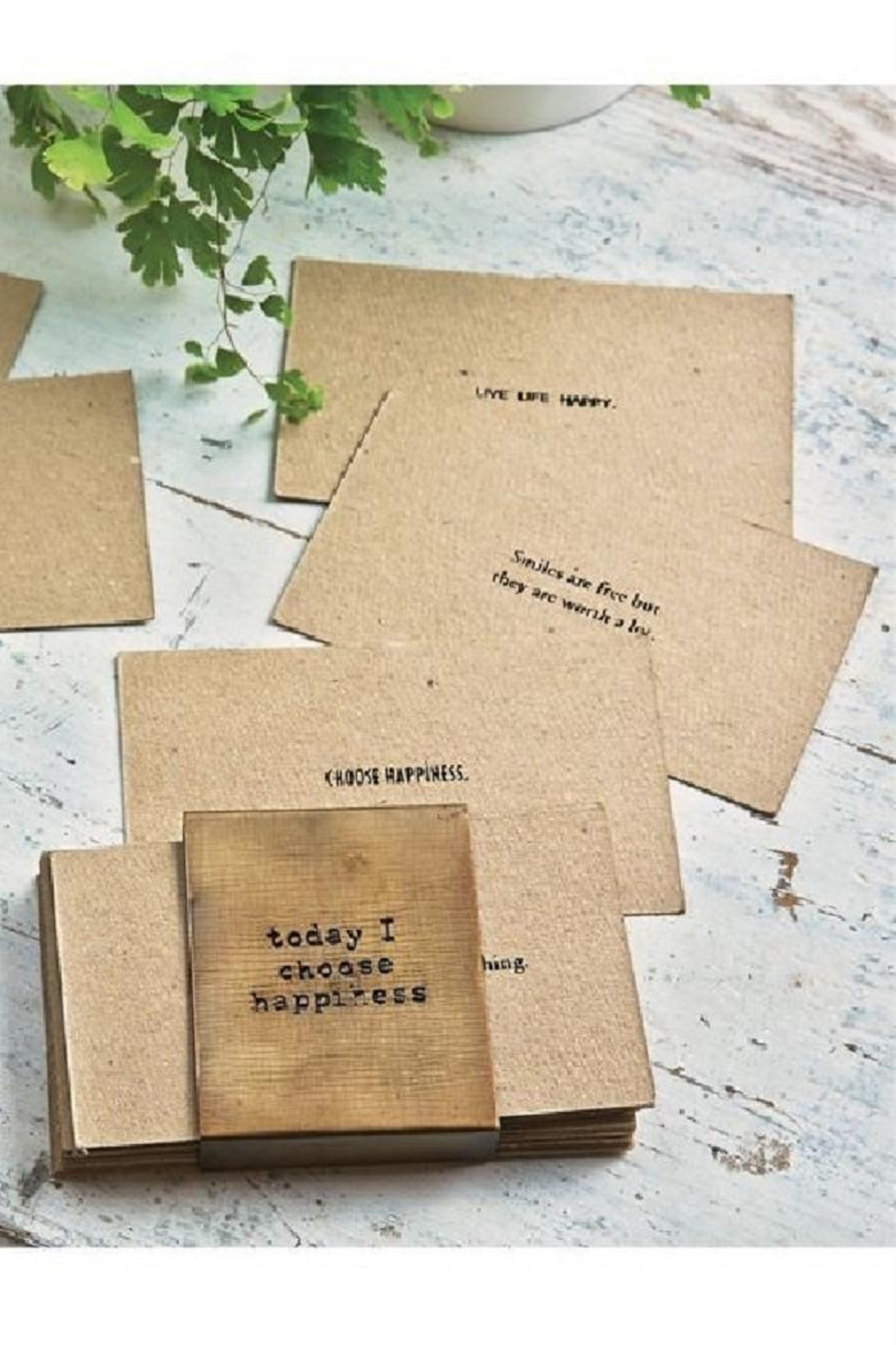 Mud Pie Inspirational Card Deck - Front Full Image
