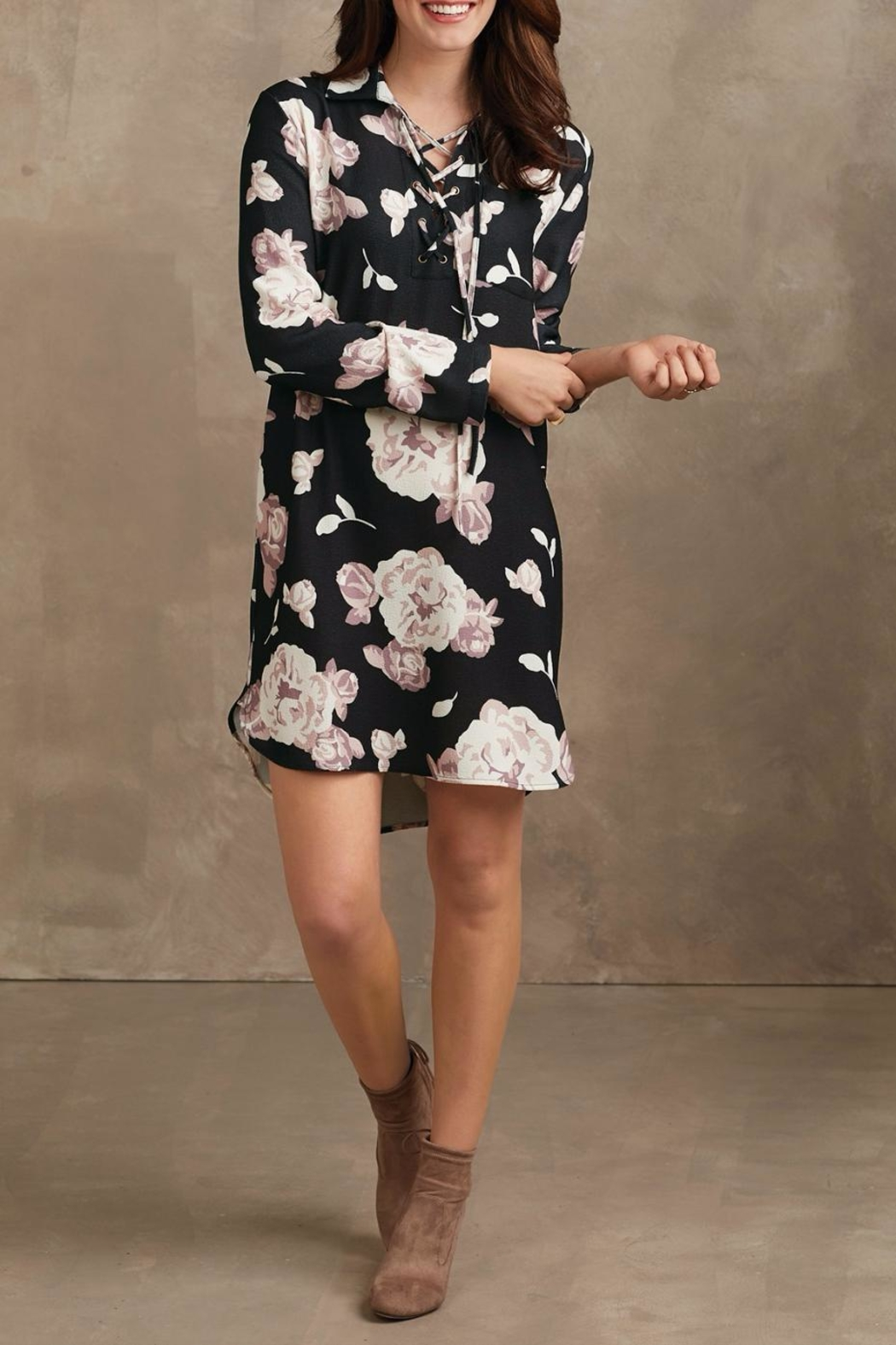 Mud Pie Kingsley Floral Dress - Front Full Image