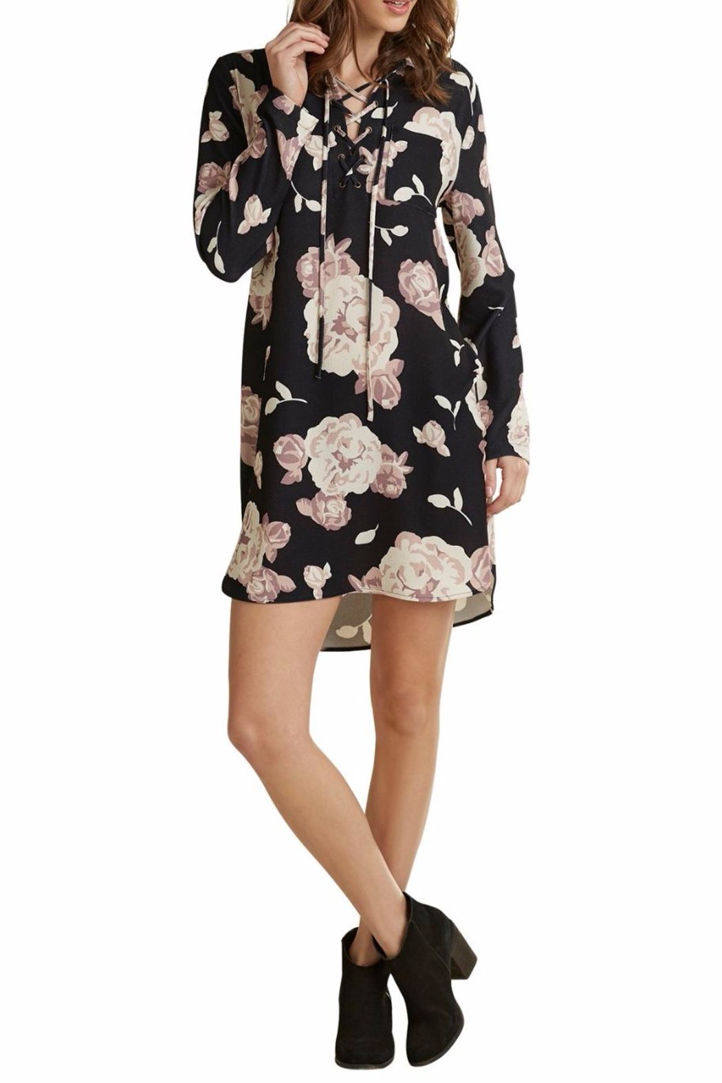 Mud Pie Kingsley Floral Dress - Front Cropped Image