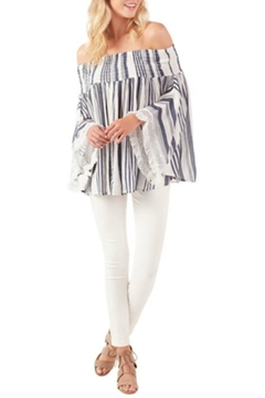 Shoptiques Product: Kristin Off-Shoulder Fringe