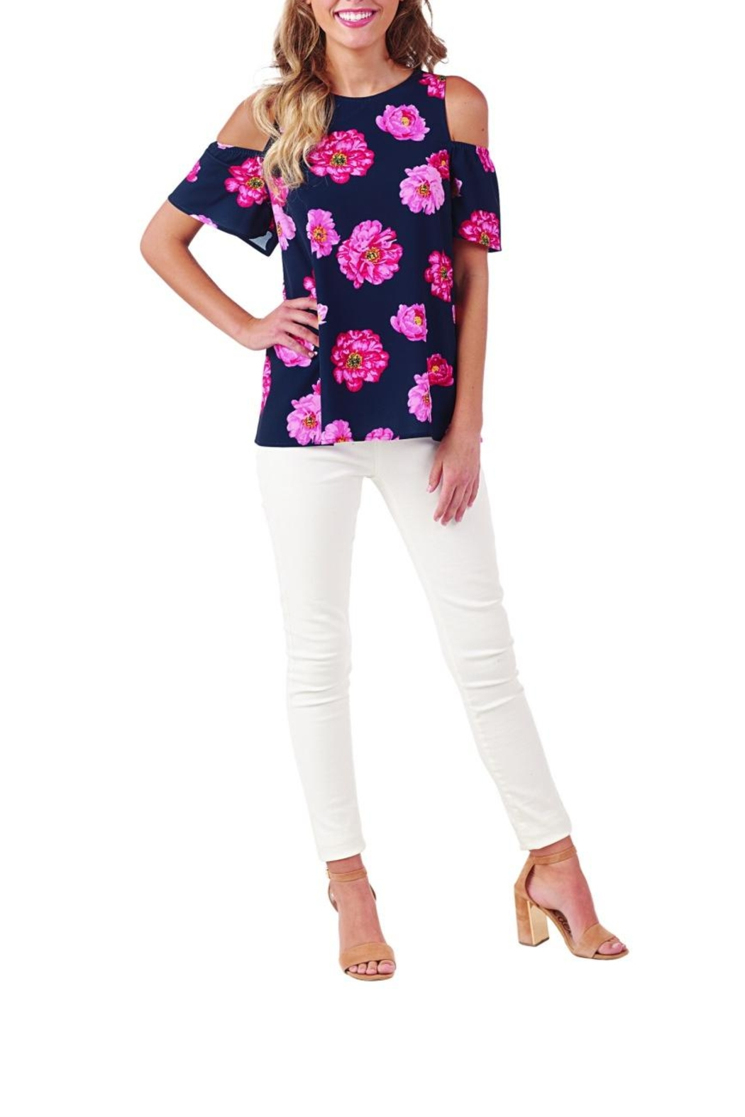 Mud Pie Lawson Floral Cold-Shoulder - Main Image