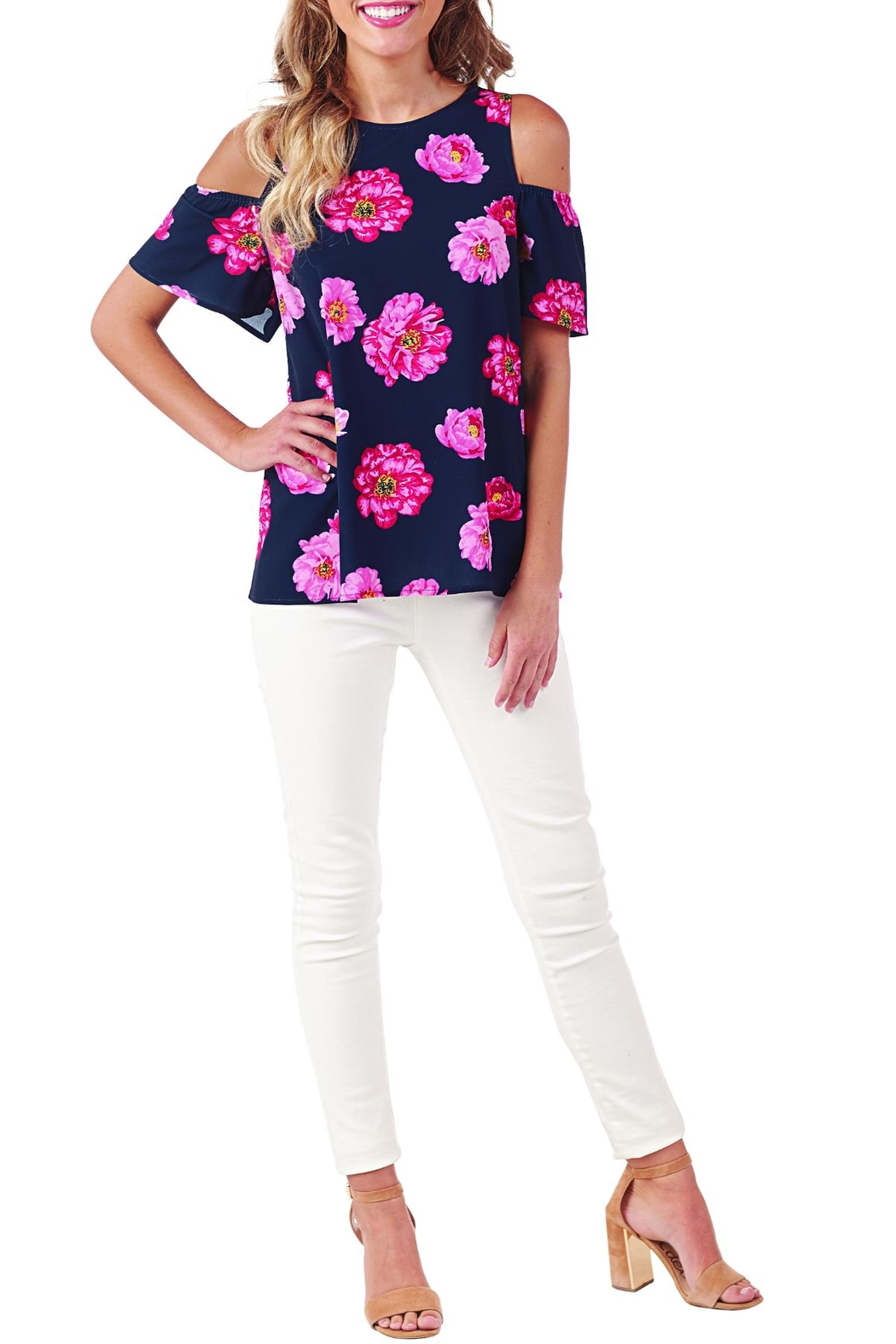 Mud Pie Lawson Shoulder Top - Main Image