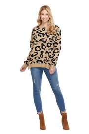 Mud Pie Leopard Sweater - Front cropped