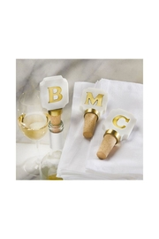 Mud Pie Letter Wine Topper - Front cropped