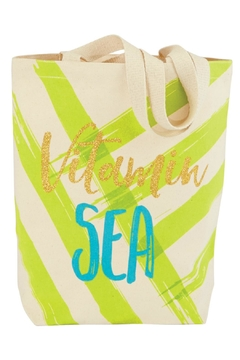 Mud Pie Life's-A-Beach Canvas Tote - Alternate List Image