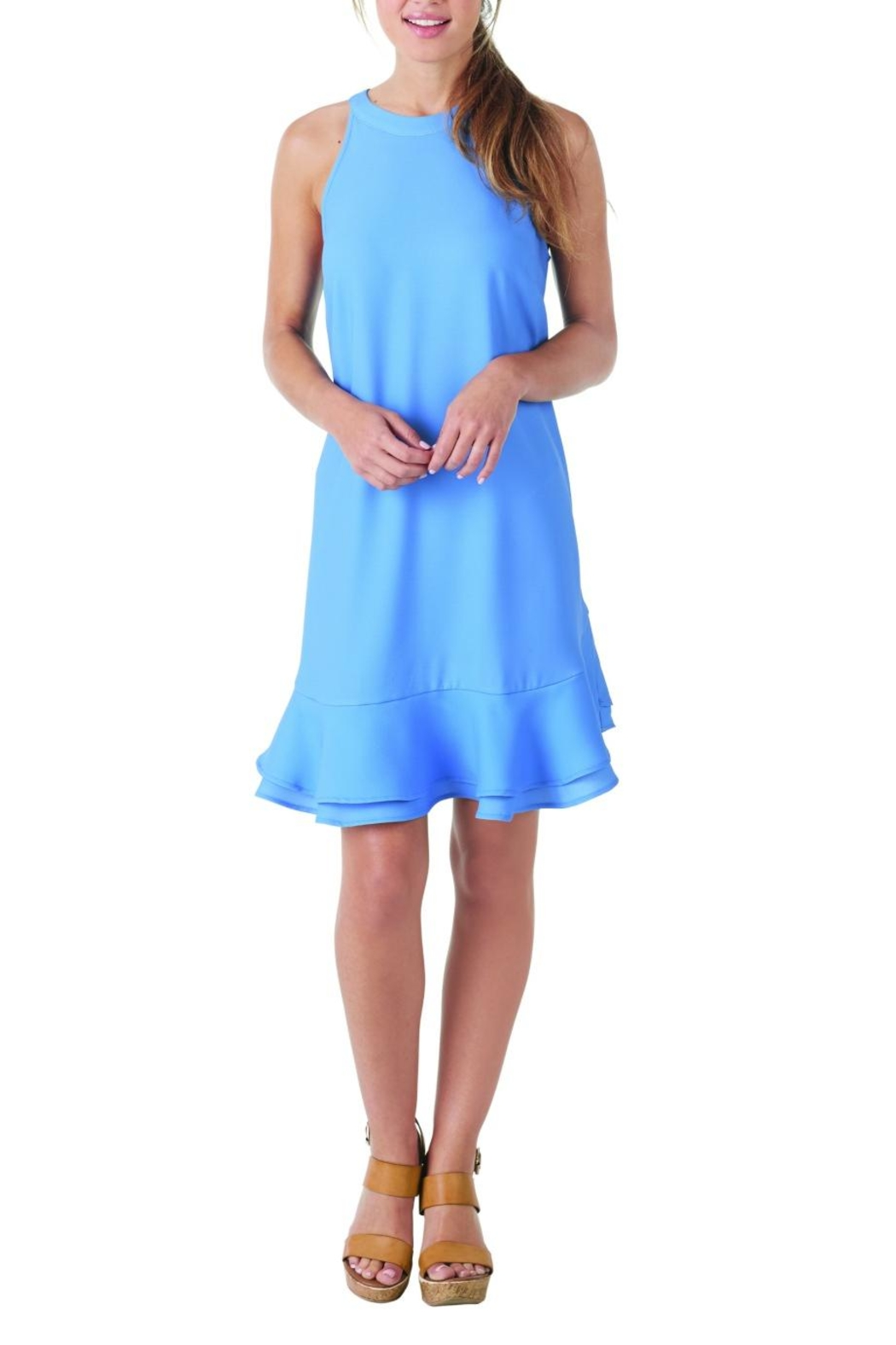 Mud Pie Lindsay Ruffle Dress - Front Cropped Image