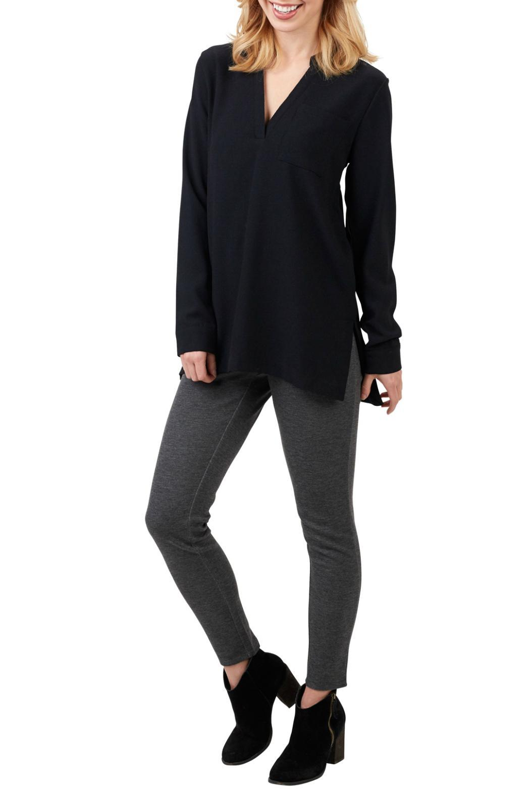 Mud Pie Long Sleeve Tunic Top - Front Cropped Image