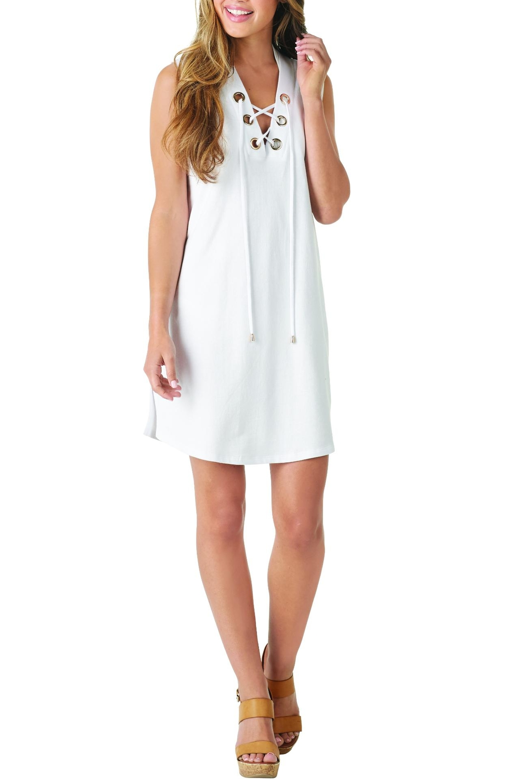 Mud Pie Lulu Lace-Up Cover-Up - Main Image