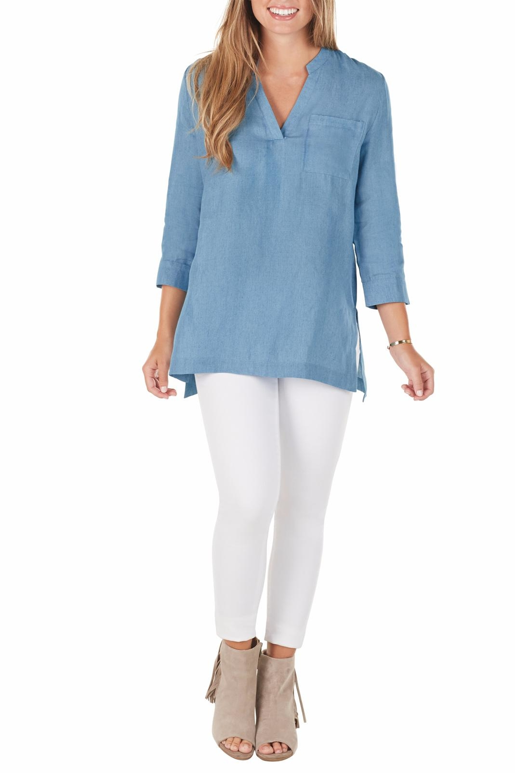 Mud Pie Maggie Essential Tunic - Front Cropped Image