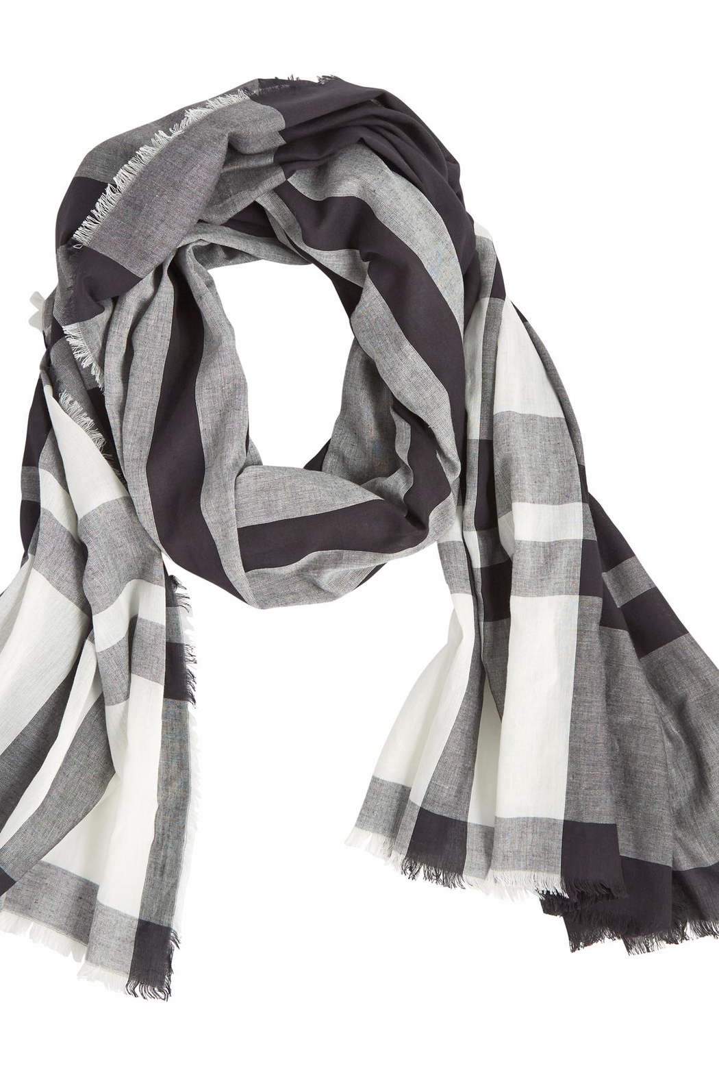 Mud Pie Mercer Plaid Scarf - Front Cropped Image