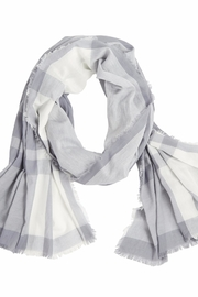 Mud Pie Mercer Plaid Scarf - Front cropped