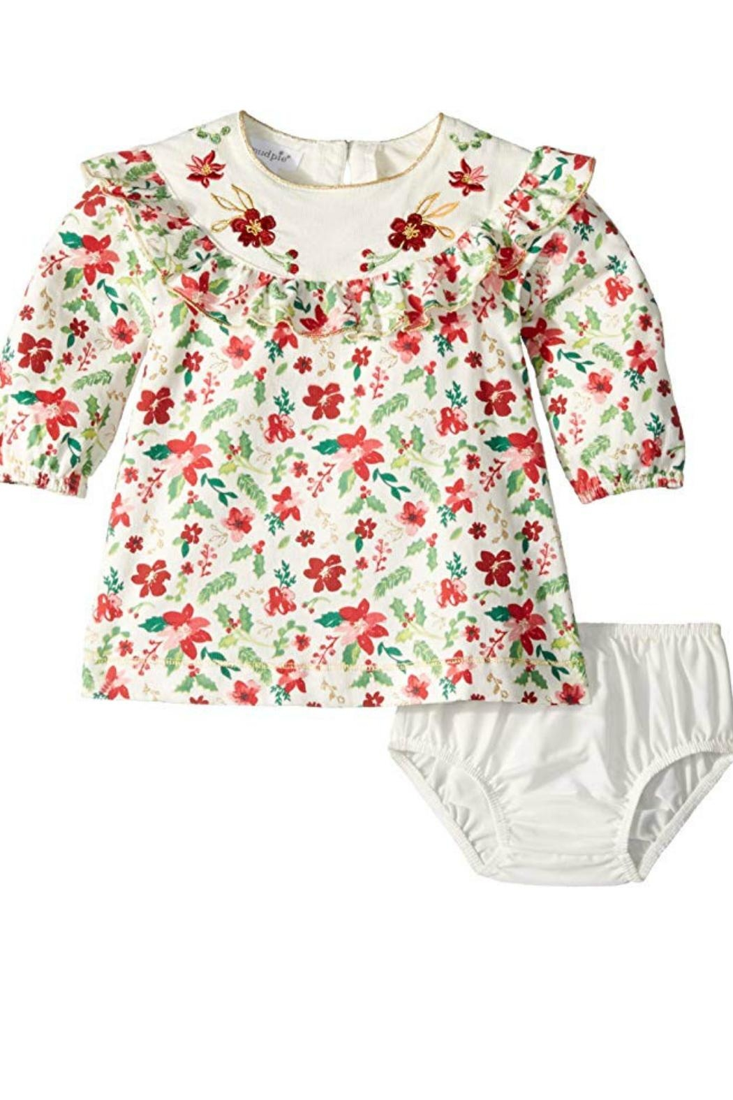 Mud Pie Merry Floral Dress - Main Image